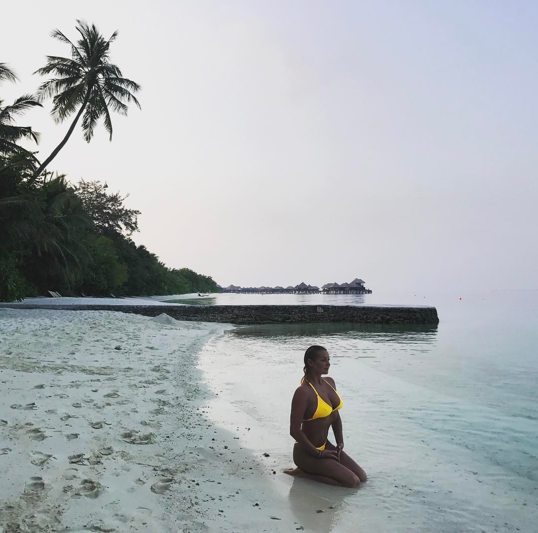 Анастасия Волочкова на Мальдивах