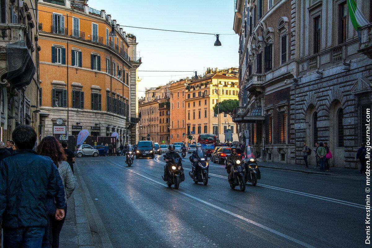 Рим. Двухколесная братия