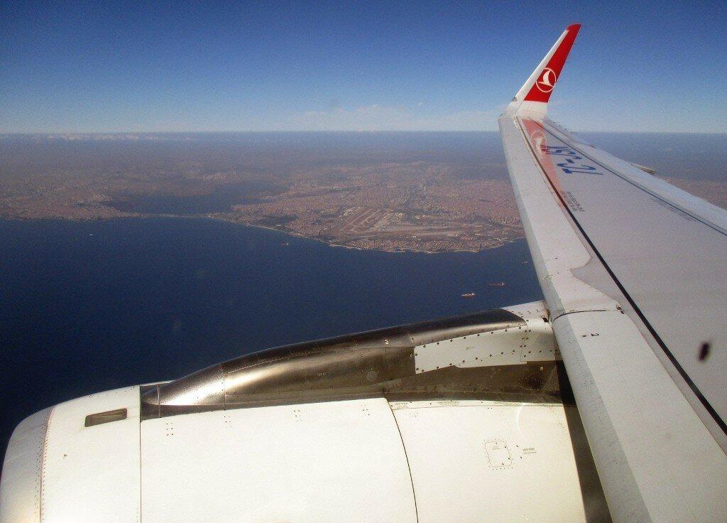 Istanbul. Over the Marmara sea