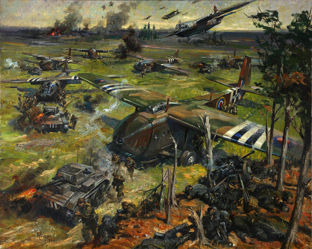 Terence Cuneo - Invasion scene.