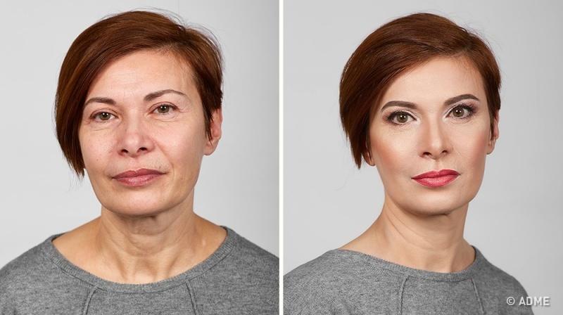 Заметим, что цель макияжа— не«омолодиться» ине«ввести взаблуждение» поклонников, апомочь женщи