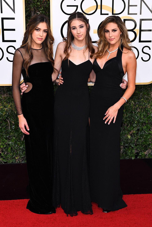 Систин, Скарлет и София Сталлоне, дочери Сильвестра Сталлоне, украсили вечер своим присутствием.