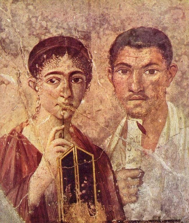© Портрет супругов. Первая половина I века, фреска из Помпеи  ВРиме среди женщин высоко ценил