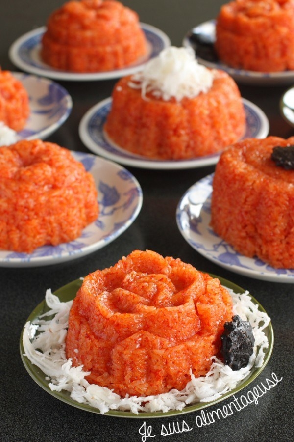 Красный клейкий рис — обязательный компонент празднования Нового года во Вьетнаме. Красный цвет дост