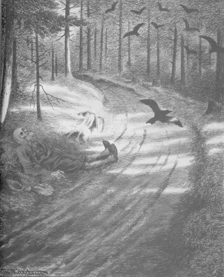 «Нищий», 1894-1895. В 1908 году Киттельсен получил высшую государственную награду в Норвегии — орден