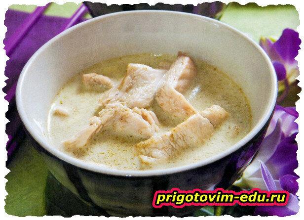 Суп куриный на кокосовом молоке