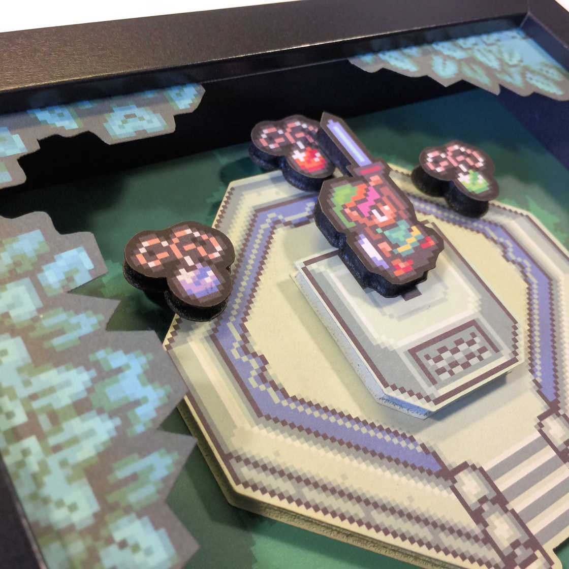 GlitchArtwork - Handmade 3D boxes in tribute to cult video games