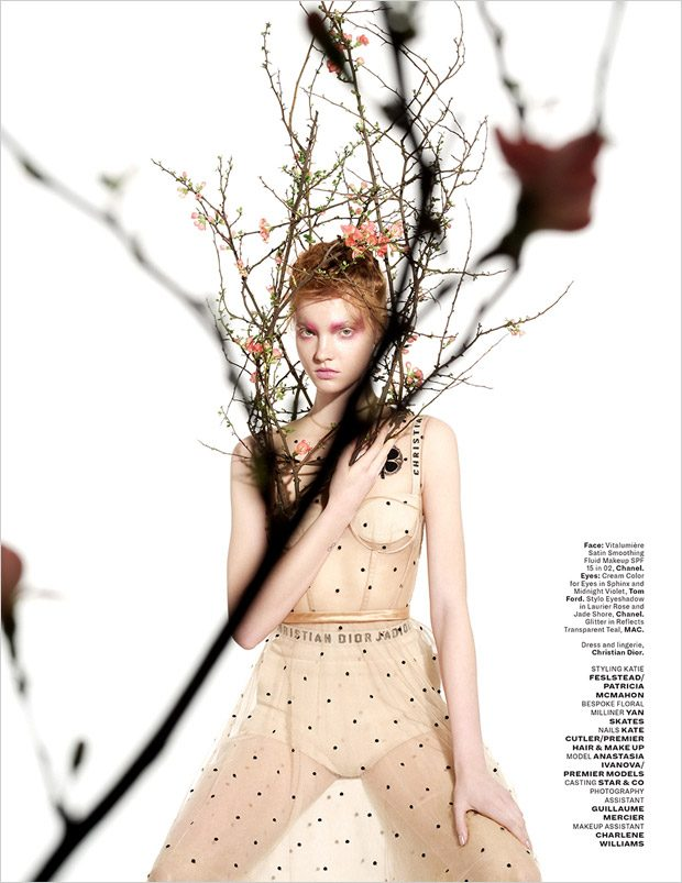 Anastasia Ivanova in Petal to the Metal for L'Officiel Singapore