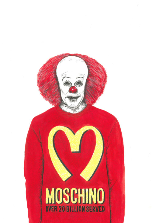 Pennywise wearing Moschino Fall 2014 Collection.