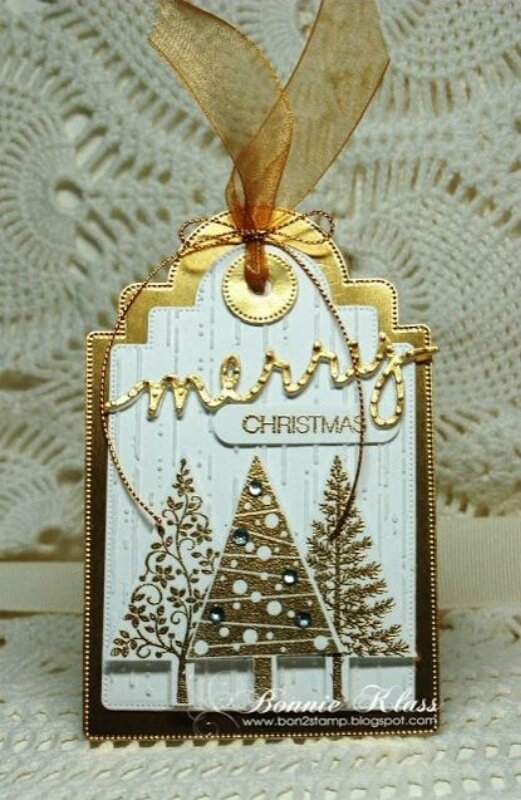 Красивые новогодние подарочные бирки