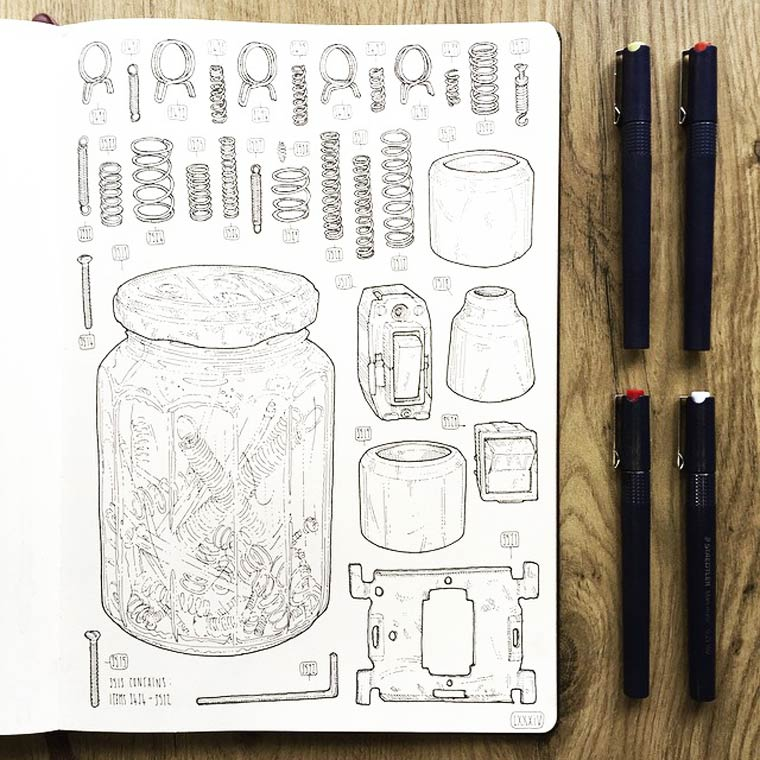 The Shed Project - Un illustrateur dessine tous les outils de son defunt grand-pere