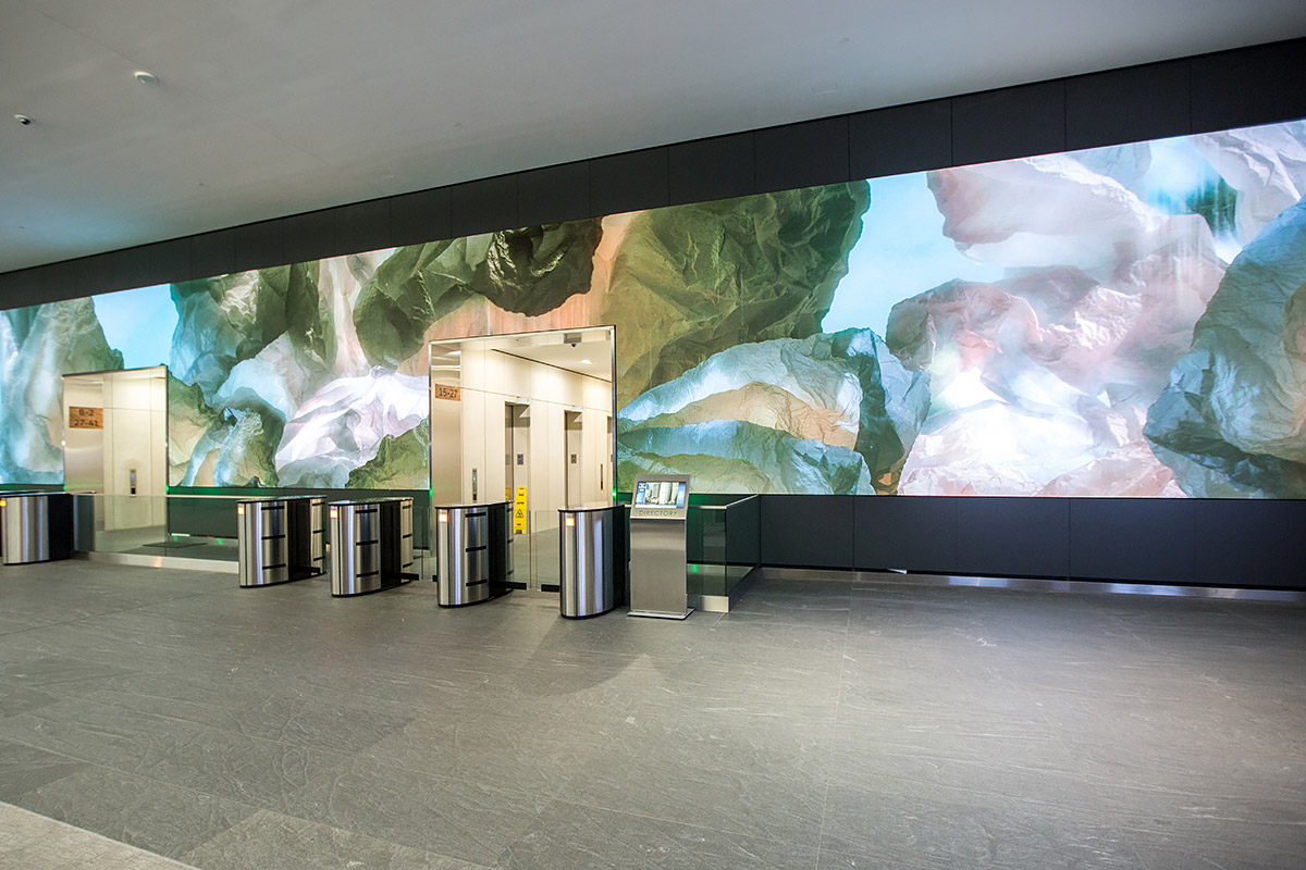Salesforce Video Wall: Digital Art Installation by Obscura