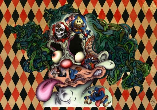 Pop-surreal Illustrations by Nicolas Le Borgne