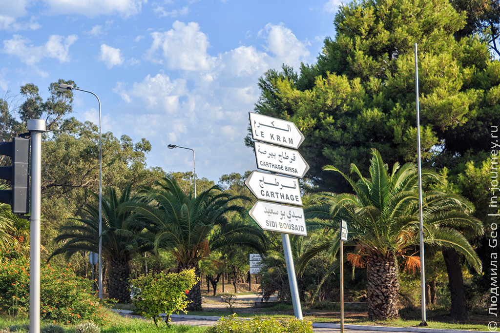 Тунис: дорожный указатель