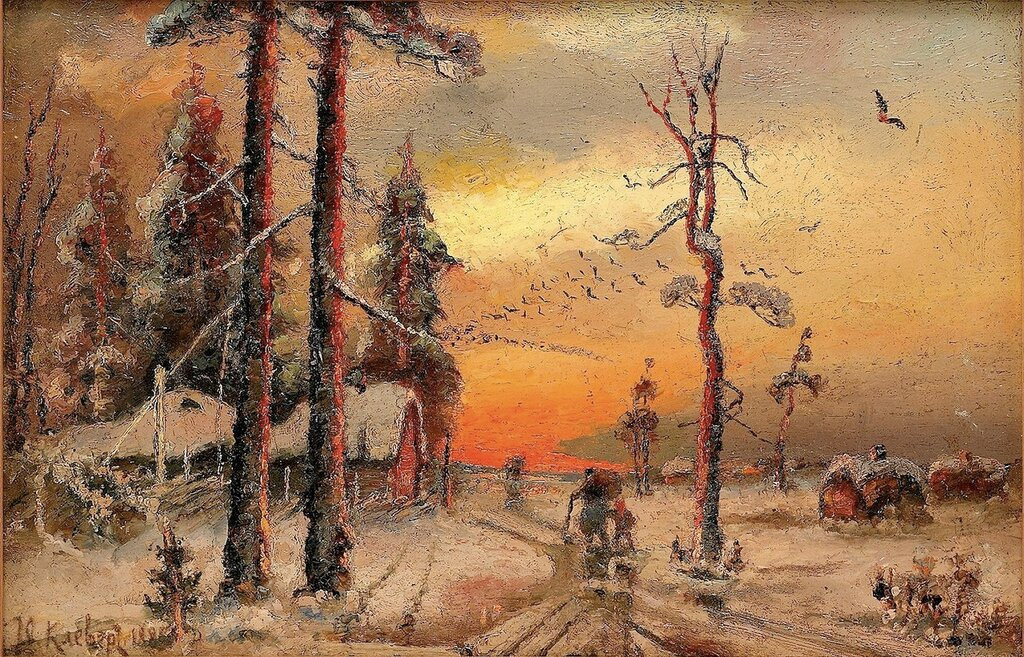 Julius Klever - House at Sunset.jpg