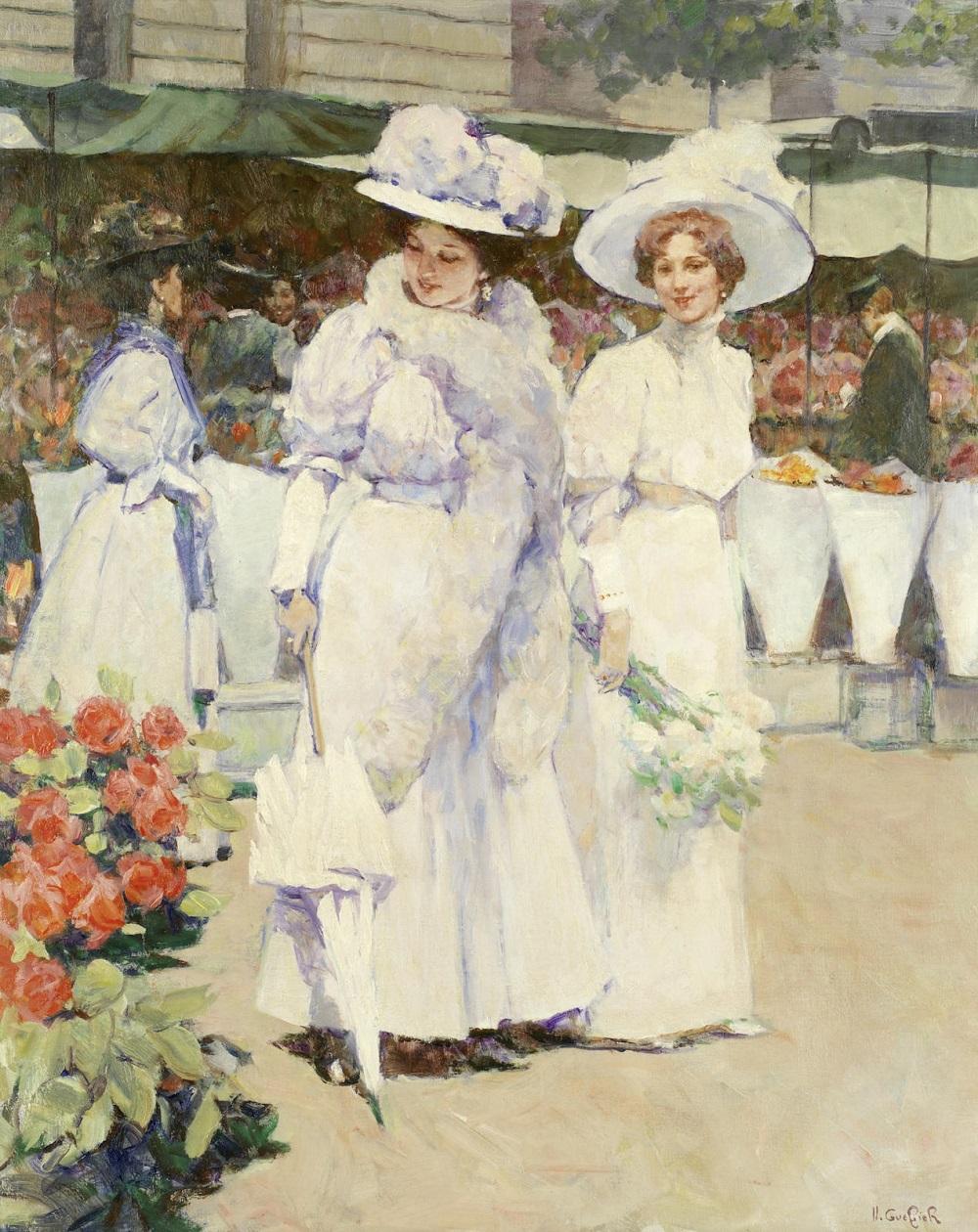 Jeunes femmes au marché aux fleurs.Jpeg