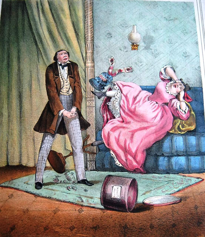 1857. Женитьба по страсти. Не по вкусу купленная мужем шляпка