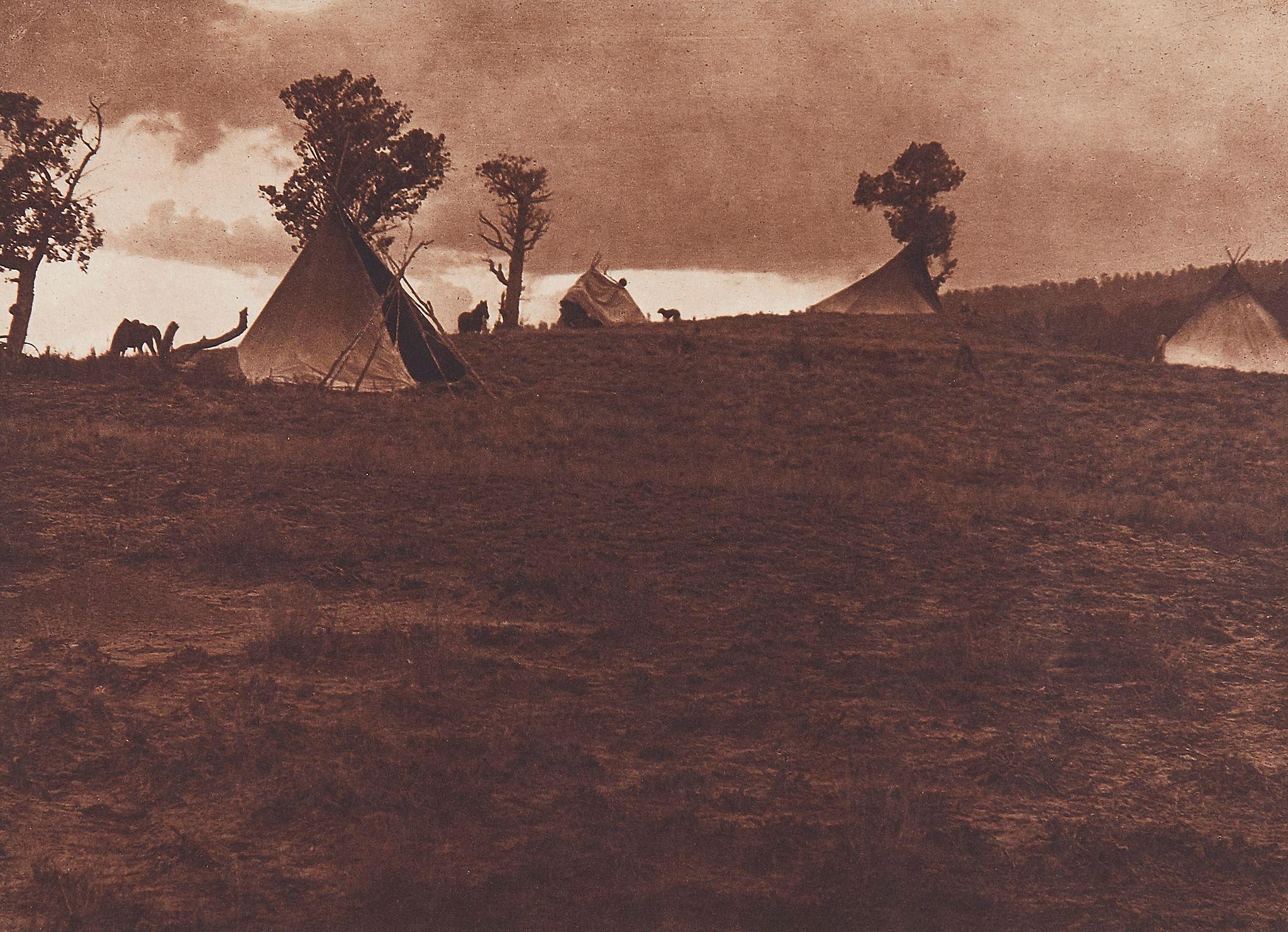 1904. Джикарилла. Лагерь в горах
