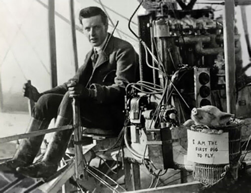 On November 4th 1909, John Moore-Brabazon proved to the world that pigs really are capable of flight