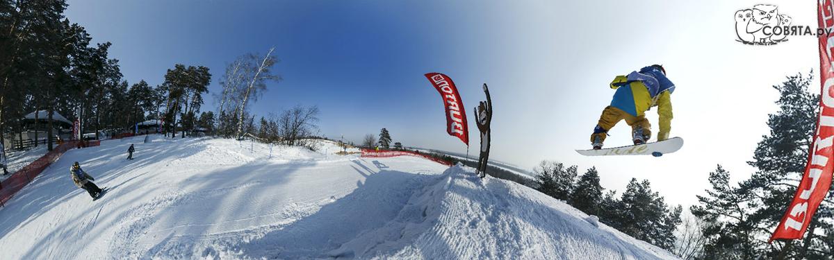 Соревнования сноубордистов в Burton-park
