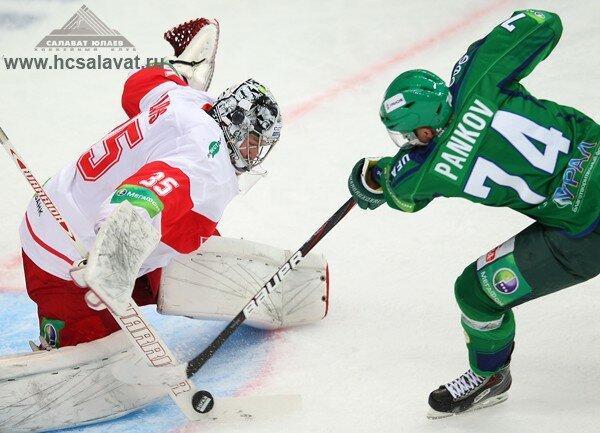 «Салават Юлаев» vs «Спартак» 1:2 ОТ чемпионат КХЛ 2013-2014 (Фото)