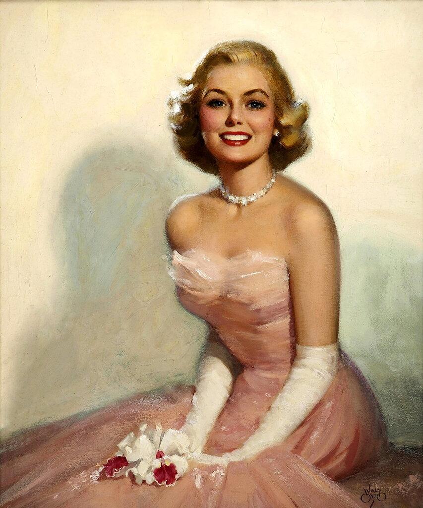 Walt Otto (1895-1963) - Blonde in pink