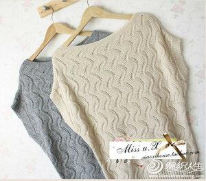 Звонкие ручейки - азиатский пуловер спицами