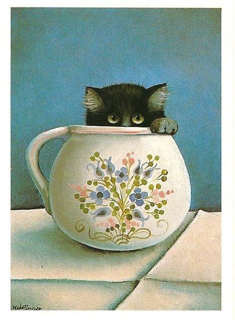 Чему улыбается кот?  Художник-иллюстратор Рената Коблингер