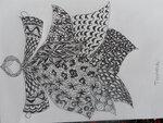 30-07 Урок 1, задание 1, рисование на бумаге предметного zentangle