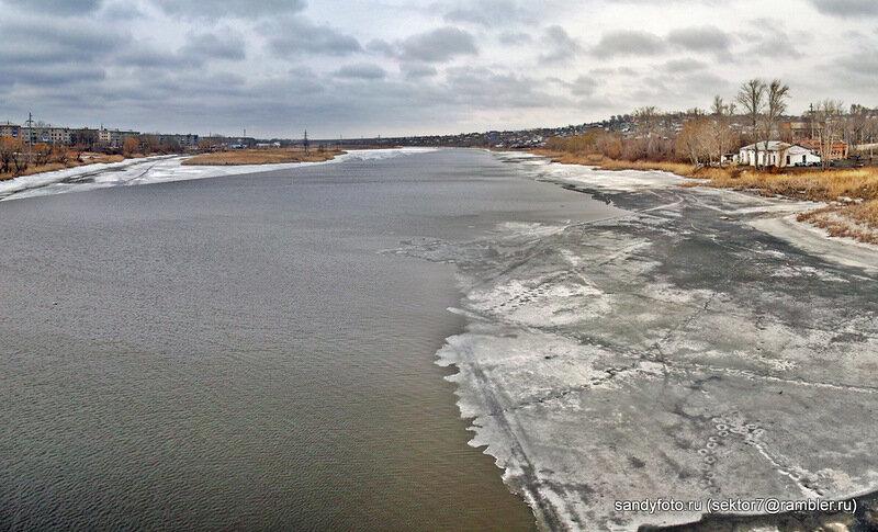 Река Увелька зимой (24.10.2013)