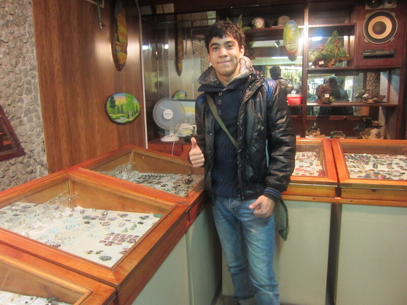 Джейсон ошарашен красотой ильменских минералов (15.11.2013)
