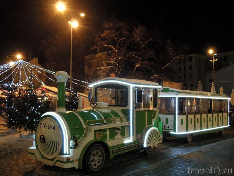 Рождественский поезд в Риге