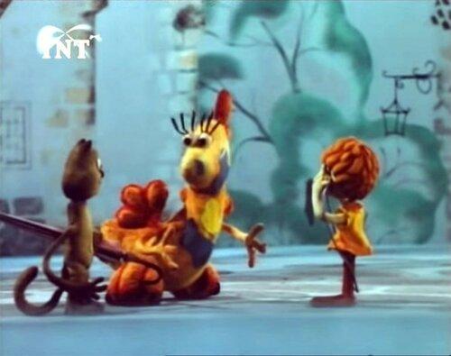 дракоша кот и девочка мультфильм