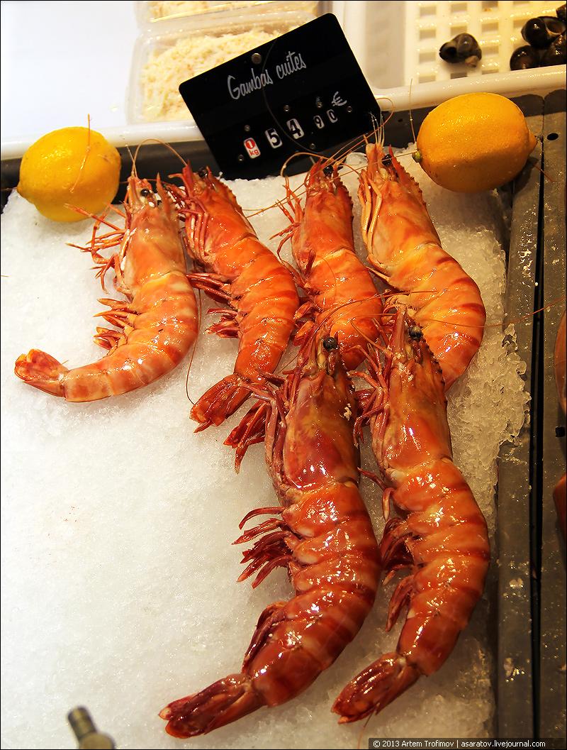 Приготовленные креветки