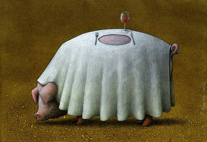 Pawel Kuczynski / Павел Качински - социальная польская карикатура. 40 работ