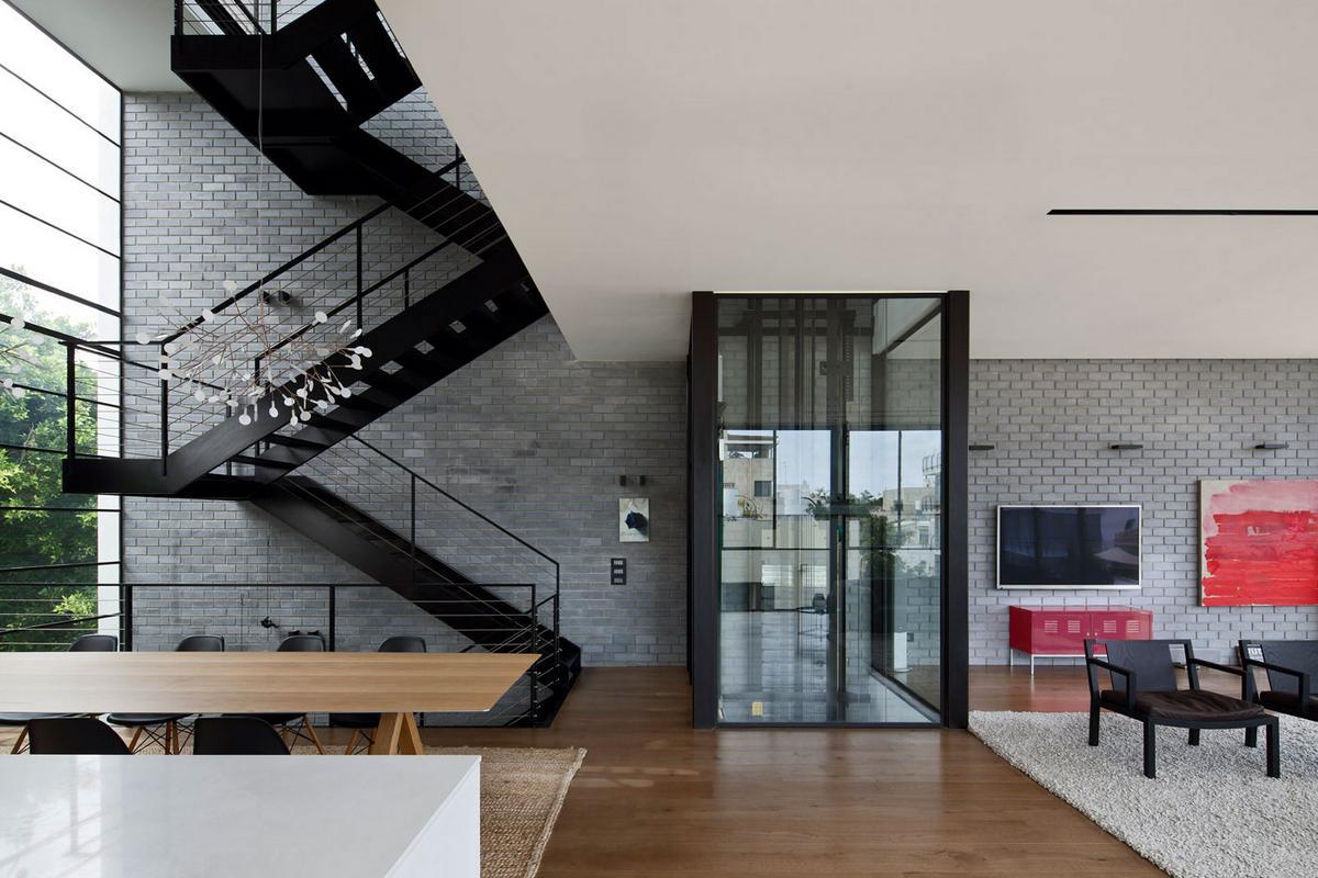 Tel Aviv Town House 1, Pitsou Kedem Architect, частный дом в Израиле, бассейн на крыше дома, особняки в Тель-Авиве, терраса на крыше частного дома