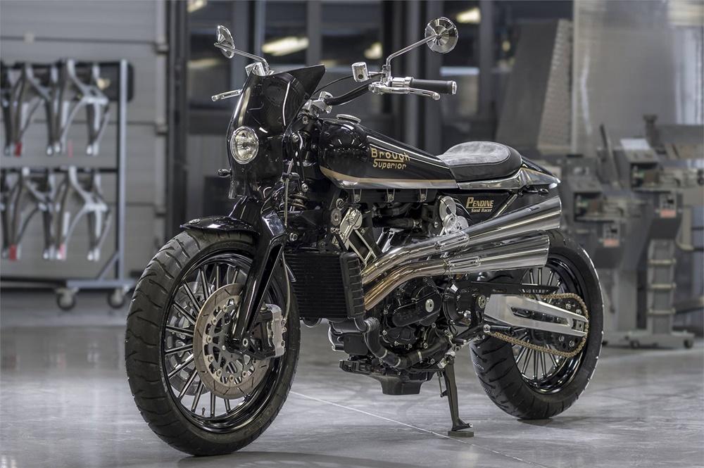 Brough Superior Pendine Sand Racer 2018 - современный ретро мотоцикл