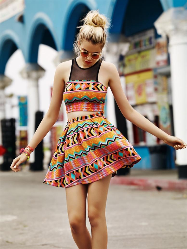 Hailey Clauson / Хейли Клоусон в модной одежде Lovers + Friends, весна 2014 / фотографы Chris Shintani & Sara Saric