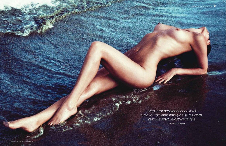 Miss Europe Shermine Shahrivar in Playboy Germany