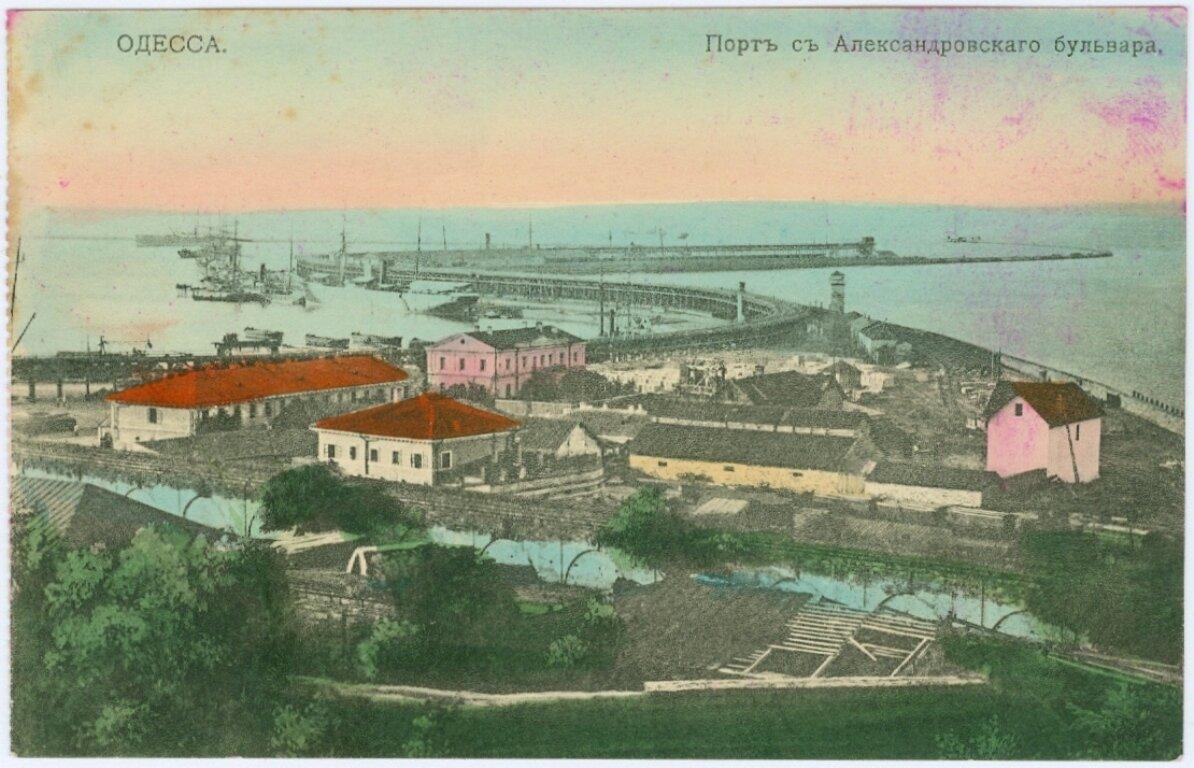 Порт с Александровского бульвара