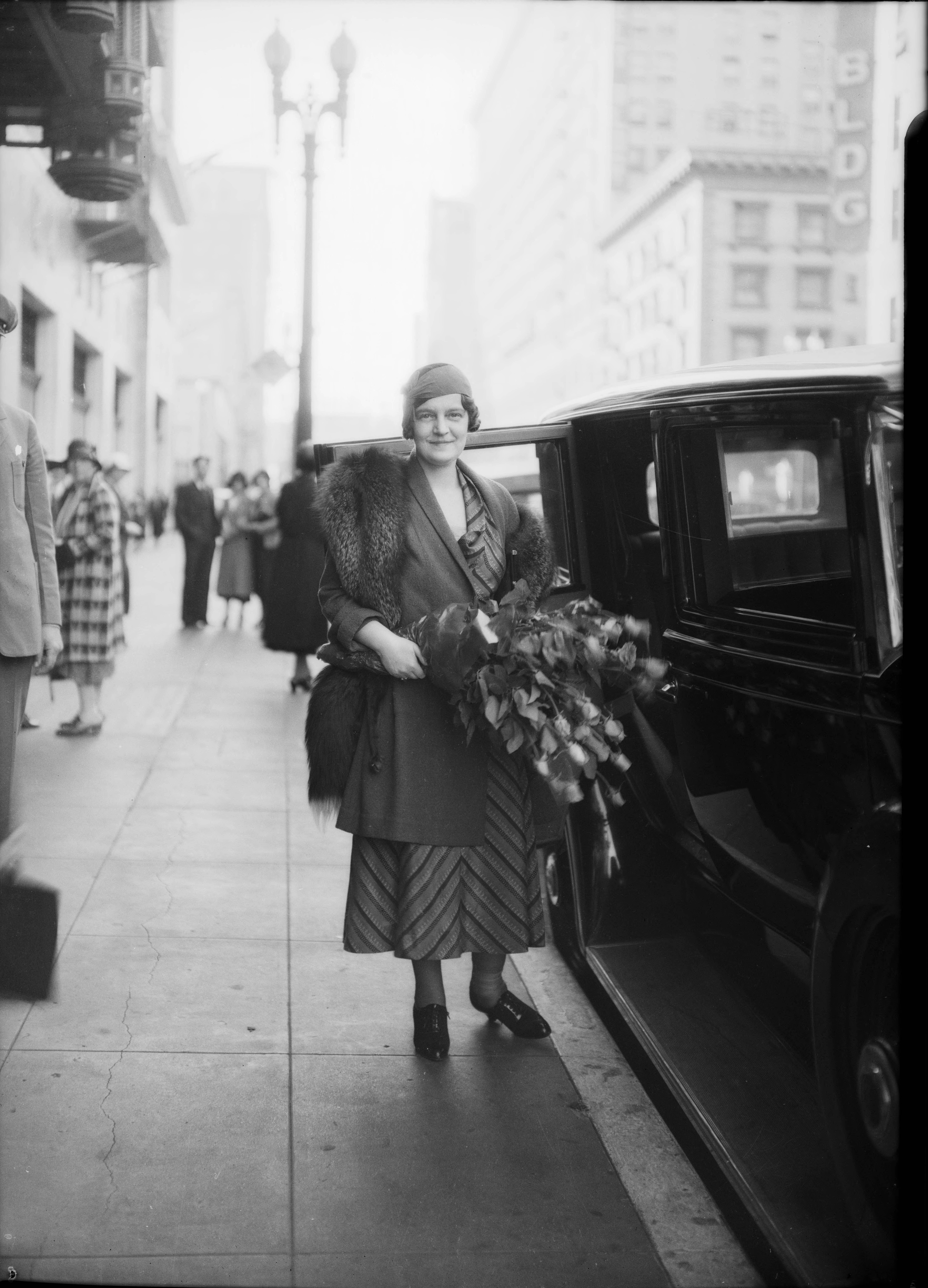 1932. Великая княгиня Мария Павловна после презентации своей книги мемуаров. Южная Калифорния
