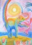"Головяшкин Тимофей (рук. Логинова Ирина Юрьевна) - ""Слон и радуга"""