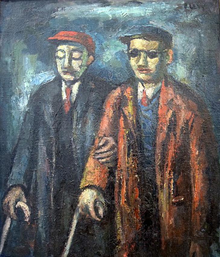Два слепых человека. Эммануэль Леви(1900-1986) Two Blind Men