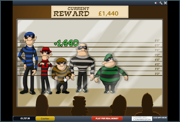 cops and bandits slot bonus feature