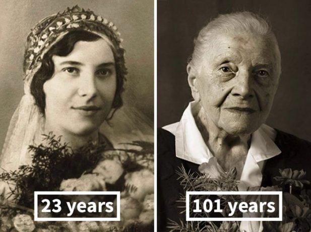 17 лет vs 100 лет: Как поменялись обычные люди за десятки лет (11 фото)