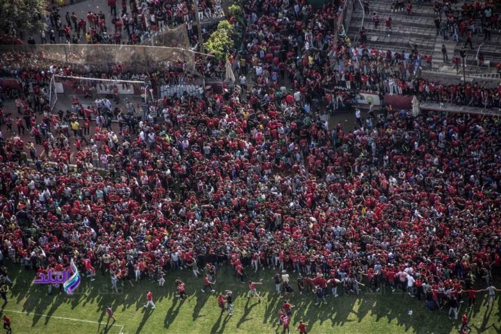 Болельщики прервали открытую тренировку египетского футбольного клуба