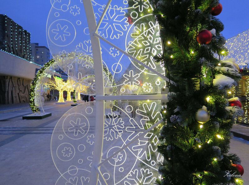 Фрагмент световой арки