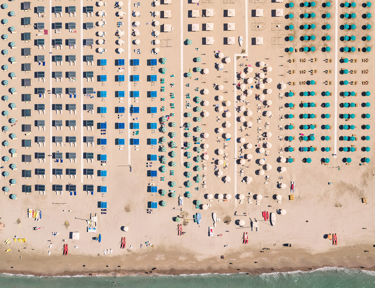Satisfying Aerial Pictures of an Italian Beach