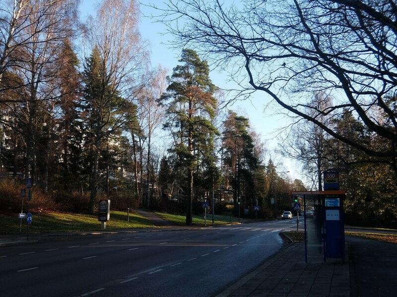 Эспоо - Дорога и лес