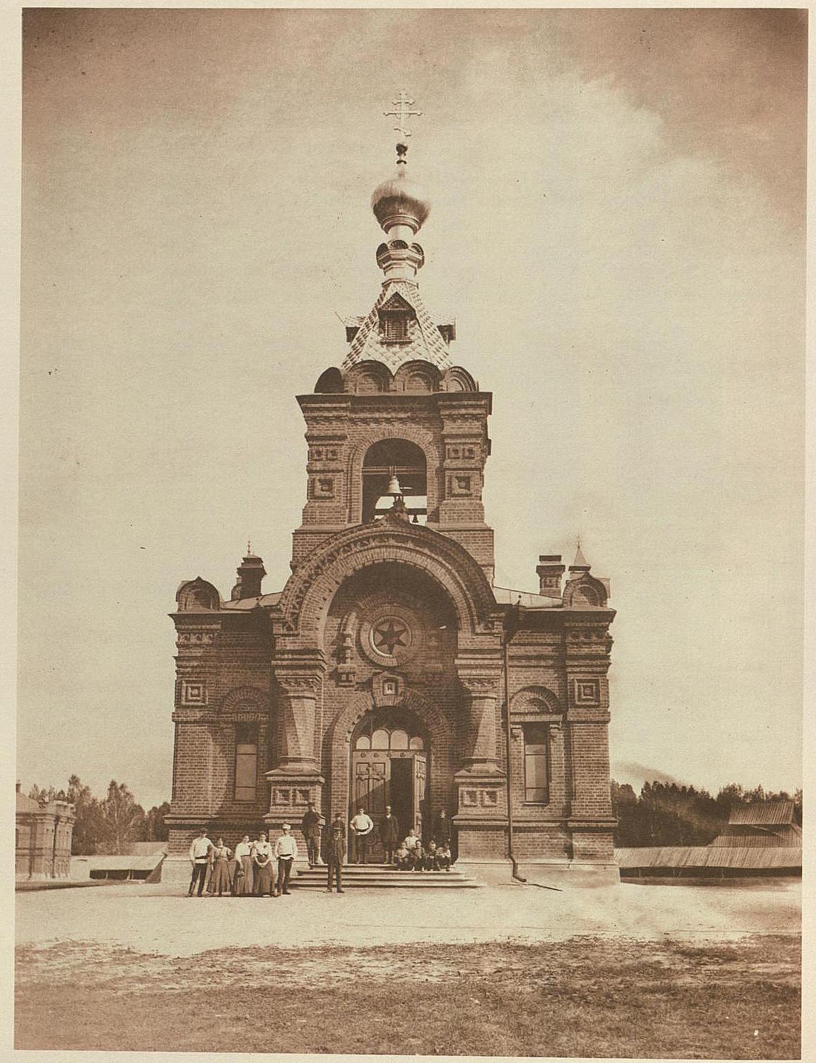 Главный фасад церкви Петра и Павла при спичечной фабрике